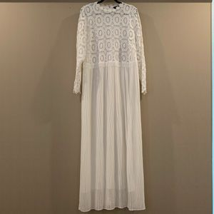 Eloquii White Pleated Dress Floral Lace Size 20